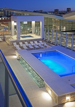 The Pool at Spire Condos Denver